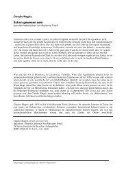 Magris - Schongewesensein - Edition Korrespondenzen