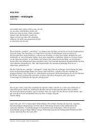 Münden – Entzüngeln - Edition Korrespondenzen