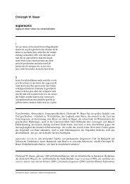 Christoph W. Bauer - supersonic - Edition Korrespondenzen