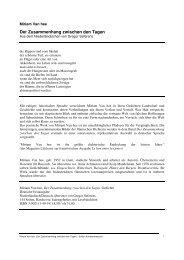 Van Hee - Der Zusammenhang - Edition Korrespondenzen