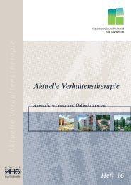 Aktuelle Verhaltenstherapie - Heft 16 - Anorexia und Bulimia nervosa