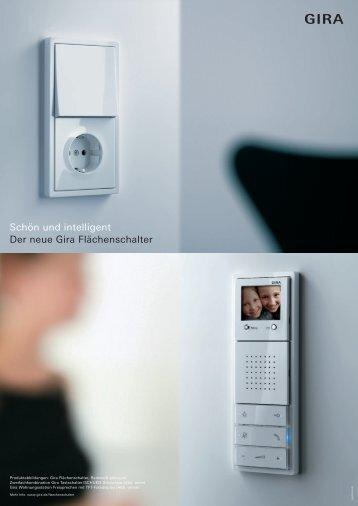 Schön und intelligent Der neue Gira Flächenschalter - Smarthouse.lu