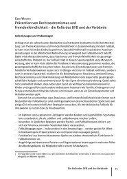 Prävention von Rechtsextremismus und Fremdenfeindlichkeit – die ...