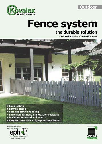 Fence system the durable solution - Kosche