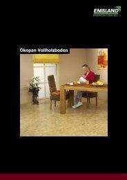 Ökopan Vollholzboden - Kosche