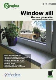 Window sill the new generation - Kosche
