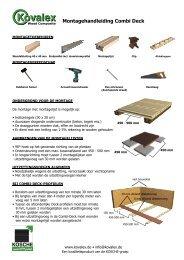 Montagehandleiding Combi Deck - Kosche