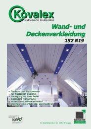 Wand- und Deckenverkleidung 152 R19 - Kosche