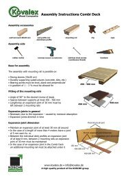 Assembly Instructions Combi Deck - Kosche