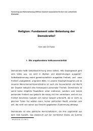 Religion: Fundament oder Belastung der Demokratie?