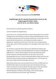 Empfehlungen des XII. Deutsch-Koreanischen Forums an die ...