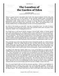 The Location of the Garden of Eden - Kosher Torah