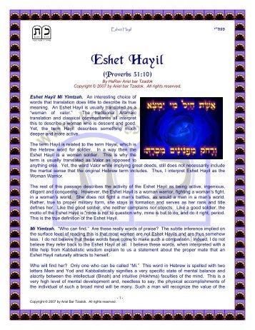 Eshet Hayil - Kosher Torah