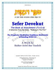 Attachment (to G-d) - Sefer Devekut - Kosher Torah