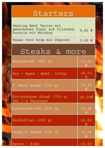 Starters Steaks