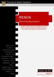 University Of Western Macedonia F aculty O f E ducation Issue 1 ...