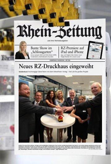 Neues Rz-Druckhaus eingeweiht