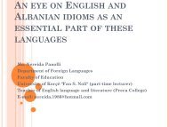 An eye on English and Albanian idioms as an essential part of these ...