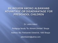Bilinguism among Albanians advantage or disadvantage for ...