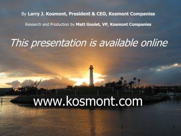 2 MB 13th Dec 2012 ED SUMMIT - Kosmont Companies