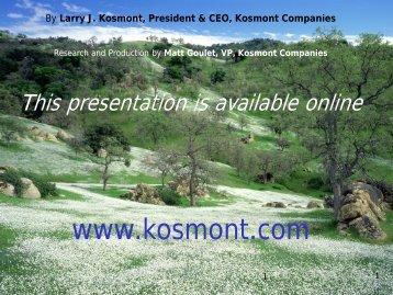 2 MB 20th Mar 2013 Kern County Economic Summit - Kosmont ...
