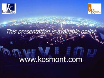 Presentation Template - Kosmont Companies