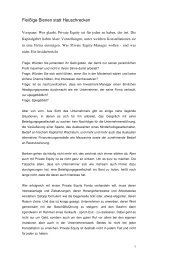Was Sie immer schon über Private Equity ... - Aheim Capital GmbH