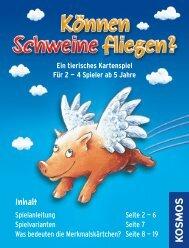Anleitung: Können Schweine fliegen? Das Kartenspiel - Kosmos