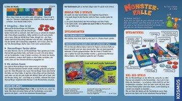 Anleitung: Monsterfalle Mitbringspiel - Kosmos