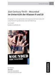 Lehrerhandreichung Wounded - Kosmos Verlag