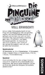 Anleitung: Die Pinguine aus Madagascar - Voll erwischt! - Kosmos