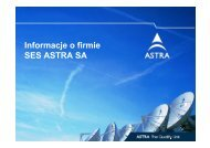 Prezentacja firmy SES Astra