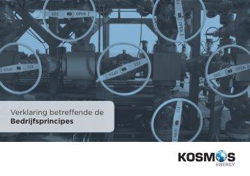 Verklaring betreffende de Bedrijfsprincipes - Kosmos Energy
