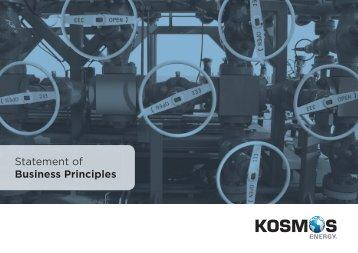 Statement of Business Principles - Kosmos Energy