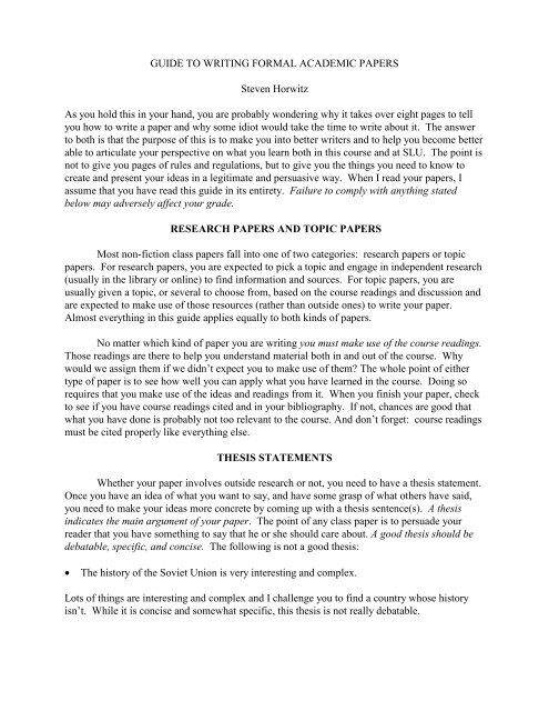 academic writing notes pdf