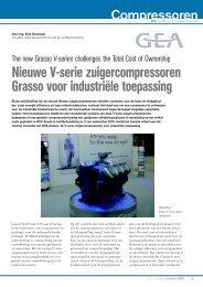 Nieuwe V-serie zuigercompressoren Grasso voor industriële ...
