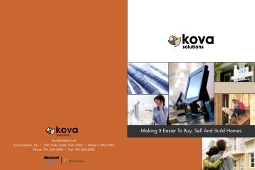 Download our brochure - Kova Solutions