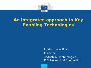 An integrated approach to Key Enabling Technologies - KoWi