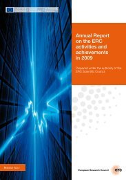 Annual Report on the ERC activities and ... - ERC - Europa
