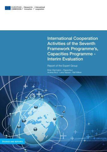 International Cooperation Activities of the Seventh Framework ...