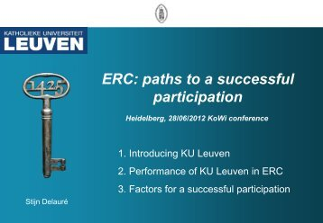 ERC: paths to a successful participation - KoWi