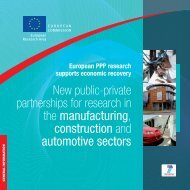 New public-private partnerships for research in the - European ...