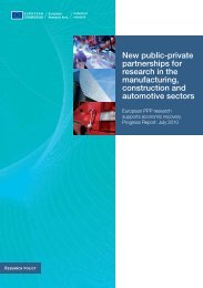 New public-private partnerships for research in the ... - KoWi