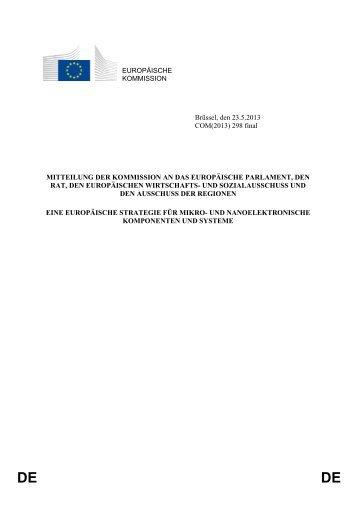Eine europäische Strategie für mikro - KoWi