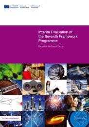 Interim Evaluation of the Seventh Framework Programme - Report