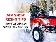 Snow Riding Tips – Make your Suzuki Motorcycles' Ride Smooth