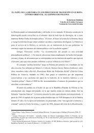 1 EL PAPEL DE LA HISTORIA EN LOS PROCESOS DE ...