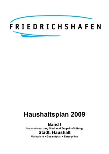 Haushaltsplan 2009