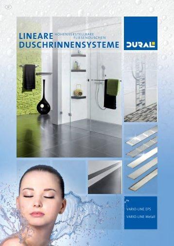 LINEARES DUSCHRINNENSYSTEM - VARIO-LINE   www.dural.de