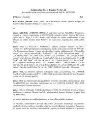 Administrativais līgums ar AS NORVIK BANKA - Konkurences padome